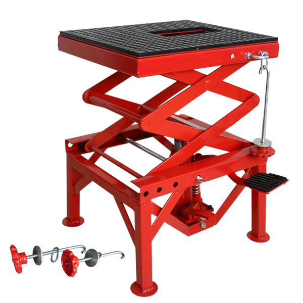 Hydraulic Scissor Car Jack : Motorcycle hydraulic scissor floor jack lift hoist center